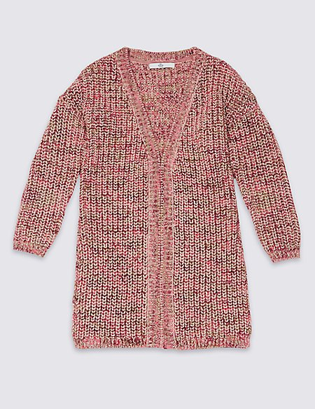 Longline Knitted Cardigan (3-14 Years)
