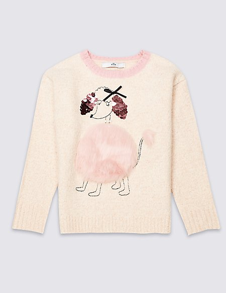 Poodle Knitted Jumper (3-16 Years)
