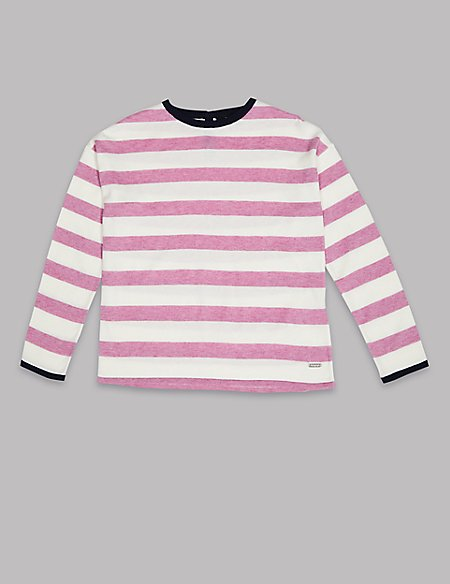Cotton Rich Striped Jumper (3-16 Years)
