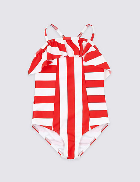 Multi-Way Stripe Swimsuit (3-16 Years)