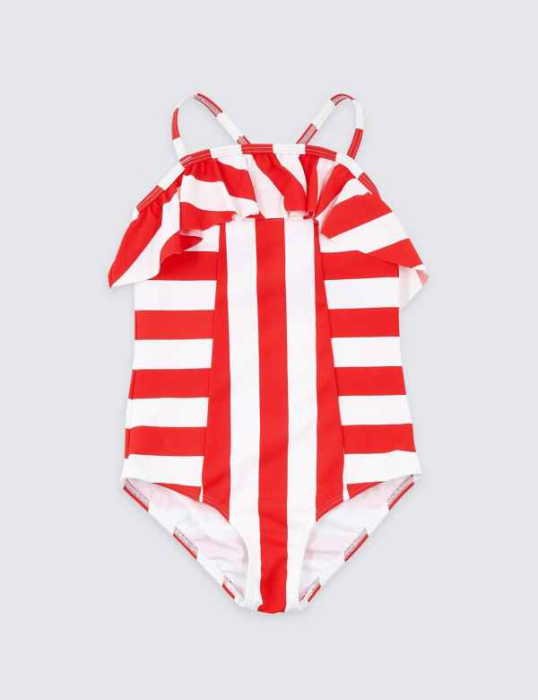 d61810c500 Multi-Way Stripe Swimsuit (3-16 Years)
