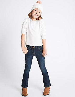 Cotton Flare Jeans with Stretch (3-14 Years)