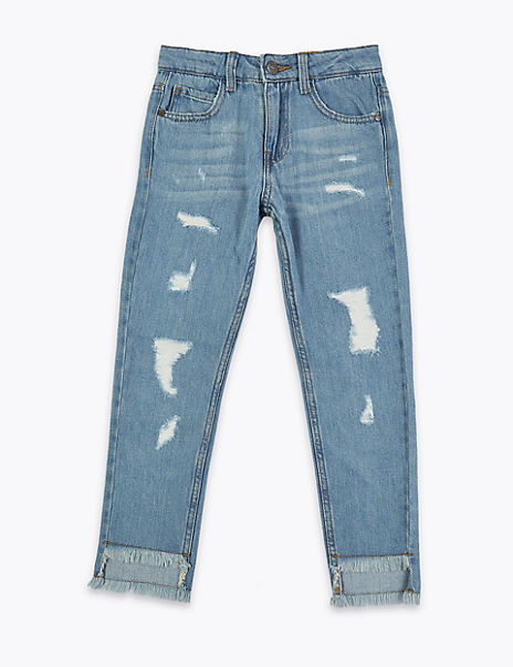 Pure Cotton Ripped Jeans (3-16 Years)