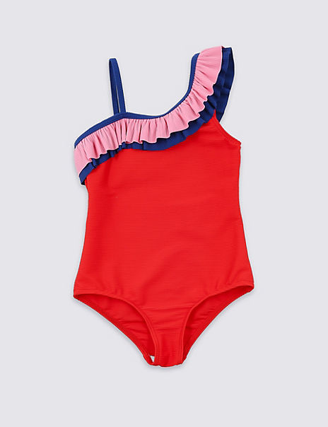 Frill Textured Swimsuit (3-16 Years)