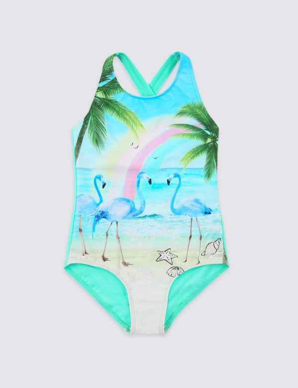 b68b1744dee13 Flamingo Swimsuit with Sun Smart UPF50+ (3 Months - 16 Years)