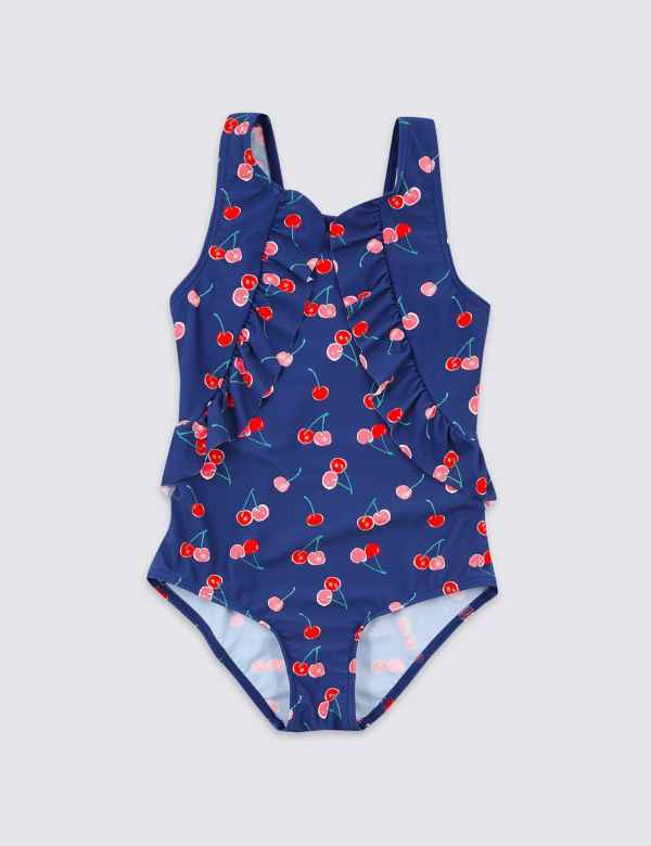 a91b5161555f Cheery Print Frill Swimsuit (3-16 Years)
