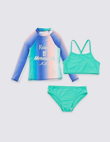 3 Piece Swimsuit Set with Sun Smart UPF50+ (3-16 Years)
