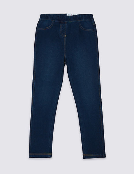 Denim Look Elasticated Waist Jeggings (18 Months - 16 Years)