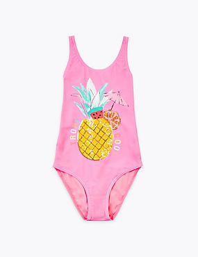 Pineapple Sequin Swimsuit (6-16 Yrs)