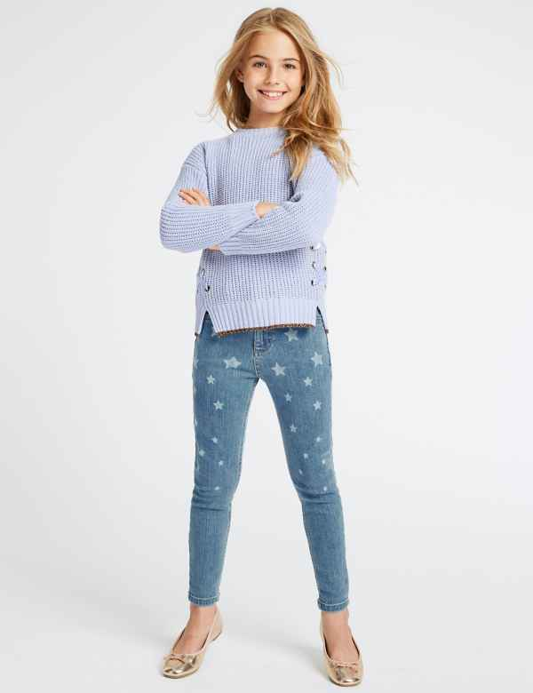 e59ae92ad0b Cotton Star Jeans with Stretch (3-16 Years)