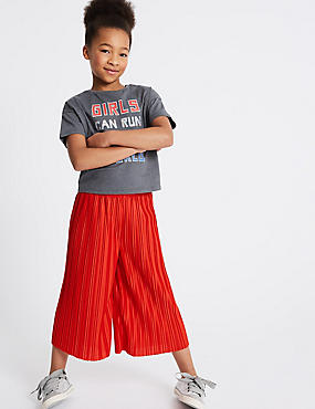 Plisse Wide Leg Culottes (3-16 Years)