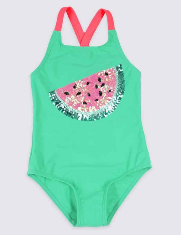 48b92813c51bb Watermelon Sequin Swimsuit (3-16 Years)