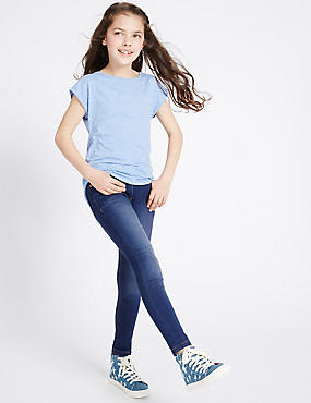Cotton Rich with Stretch Super Skinny Jeans (3-14 Years)