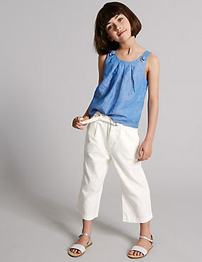 Linen Rich Belted Culottes (3-16 Years)