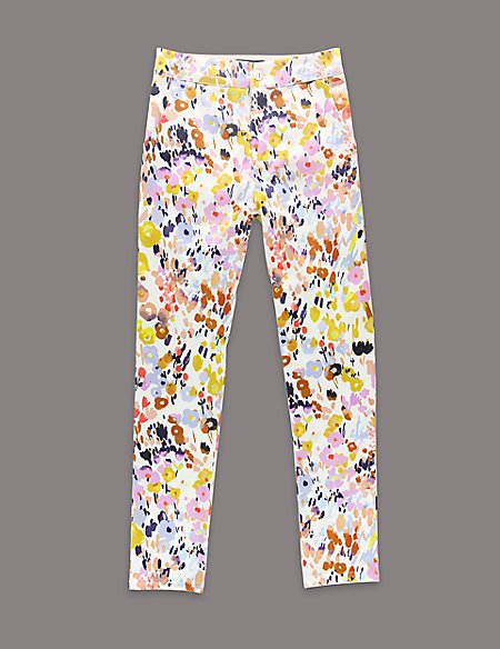 Louise Wilkinson Cotton Rich Floral Trousers (5-14 Years)