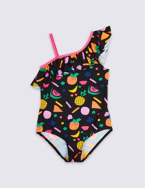 aa59512b38571 Tropical Fruit Print Swimsuit (3-16 Years)