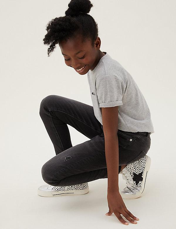 Mini Ivy Skinny Denim Ripped Jeans (6-16 Yrs)