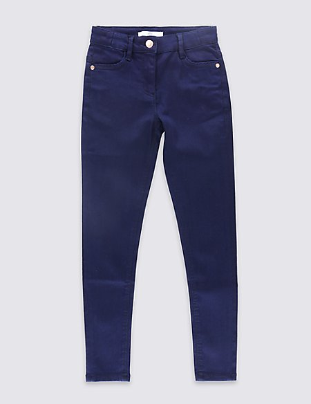 Cotton Super Skinny Jeans with Stretch (3-14 Years)