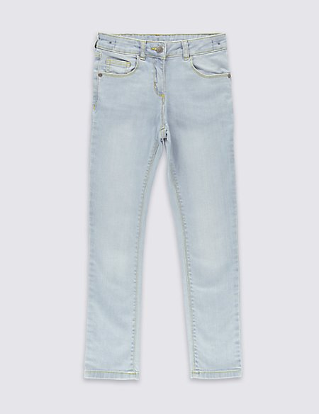 Cotton Skinny Jeans with Stretch (3-14 Years)
