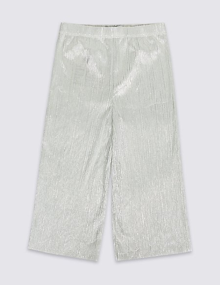 Elastic Waist Silver Culottes (3-16 Years)