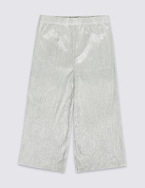 Elastic Waist Silver Culottes (3-16 Years)