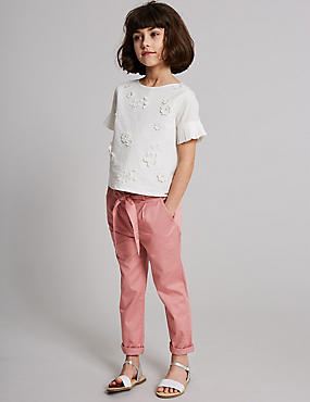 Cotton Trousers with Stretch (3-16 Years)