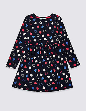 Heart Print Dress (3-16 Years)