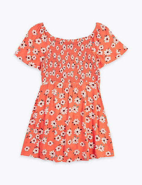 Floral Print Bardot Dress (6-16 Years)