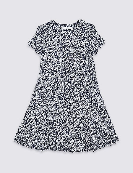 All Over Ditsy Print Dress (3-16 Years)