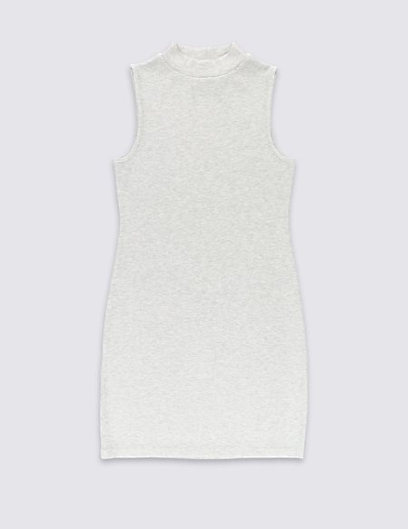Ribbed Maxi Dress with StayNEW™ (5-14 Years)