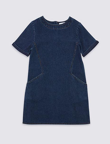 Pure Cotton Shift Dress (3-16 Years)
