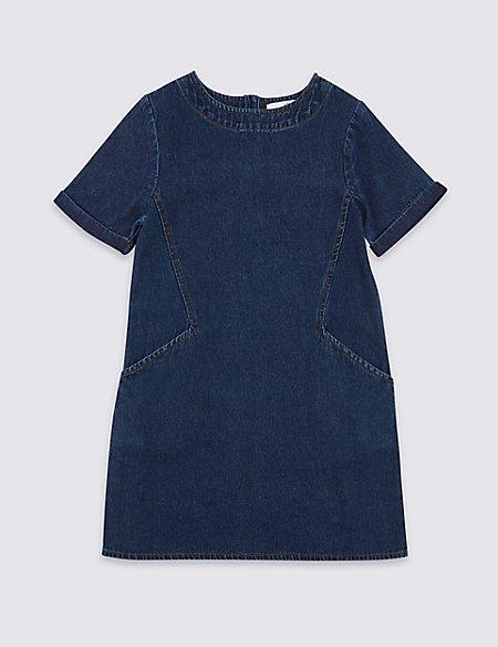 Pure Cotton Denim Dress (3-16 Years)