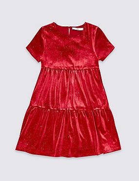 Velvet Shimmer Dress (3-16 Years)