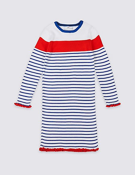 Pure Cotton Knitted Dress (3-16 Years)