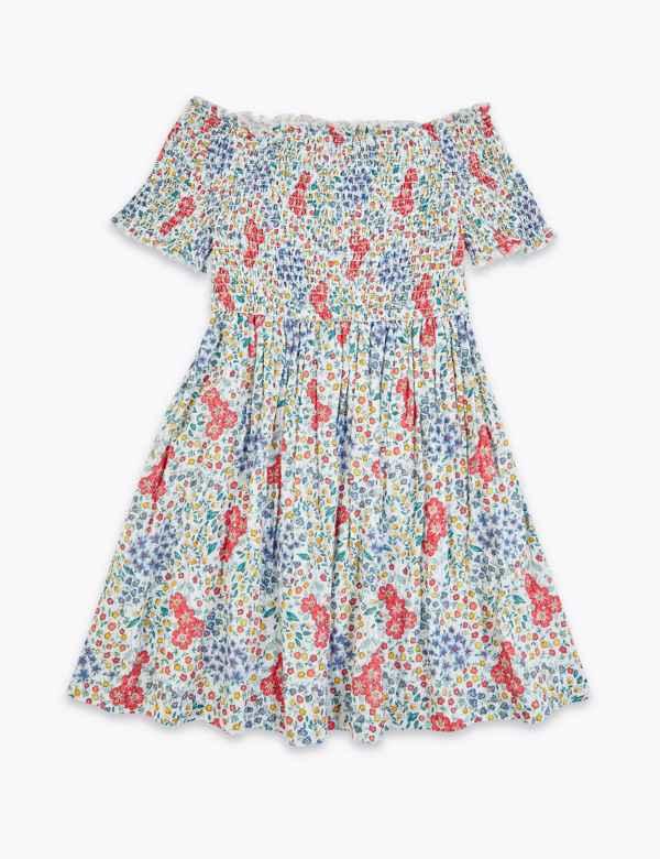 NEW Girls Knit Swing Dress Size Medium 7-8 Gray Striped A-Line Long Sleeve