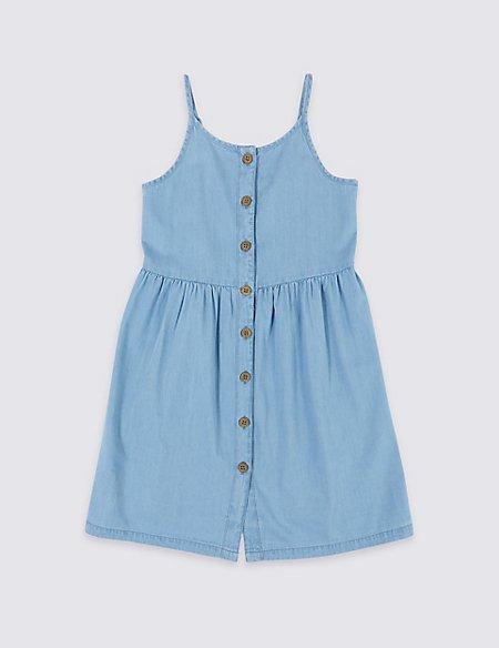 Pure Cotton Chambray Dress (3-16 Years)