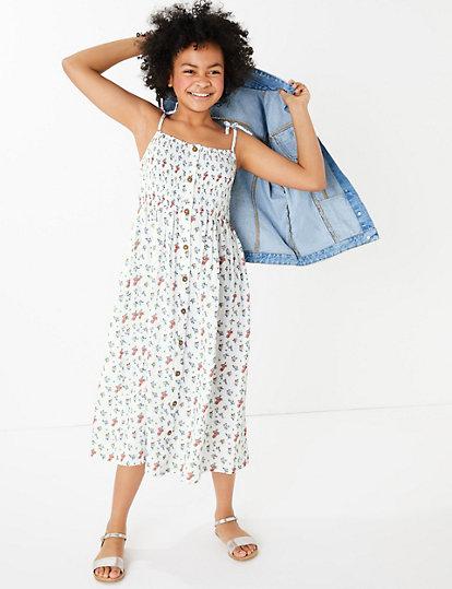 M/&s Femmes Années 50 Style Robe à fleurs Taille 16