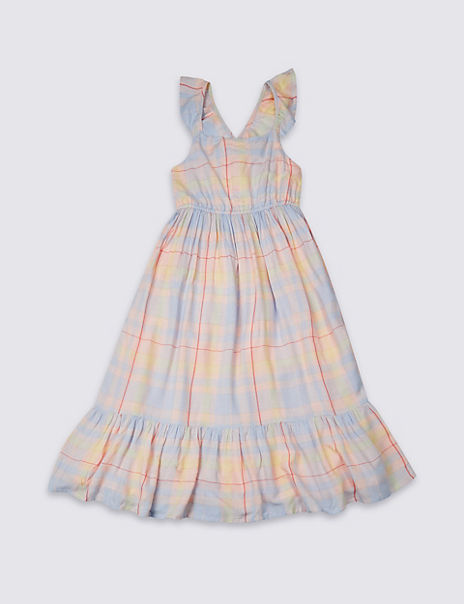 Checked Maxi Dress (3-16 Years)