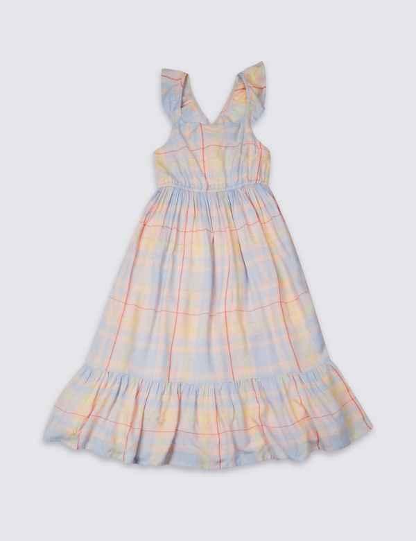 89d5b12b446 Checked Maxi Dress (3-16 Years)