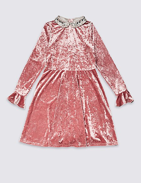 Pearl Collar Dress (3-16 Years)