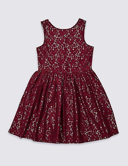Cotton Rich Lace Dress (3-16 Years)