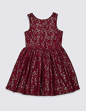 Cotton Rich Lace Dress (3-16 Years)