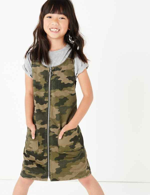 3af0a44d4f50 Camouflage Print Pinafore Dress (3-16 Years)