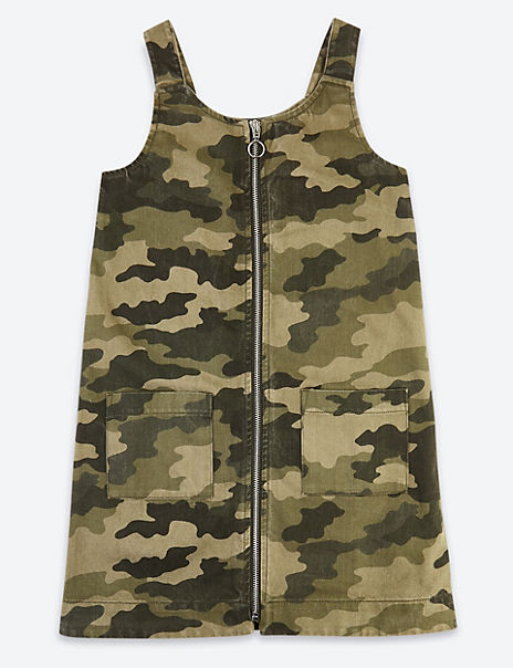 Camouflage Print Pinafore Dress (3-16 Years)