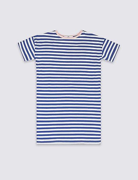 Striped T-Shirt Dress (3-16 Years)