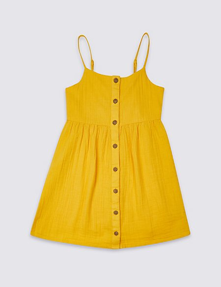 Pure Cotton Dress (3-16 Years)