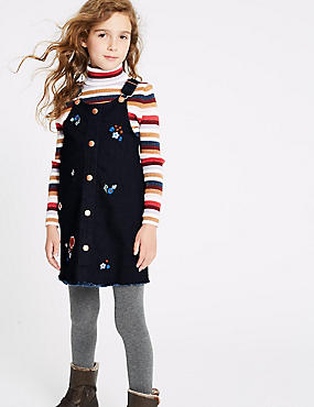 Cotton Pinafore with Stretch (3-16 Years)