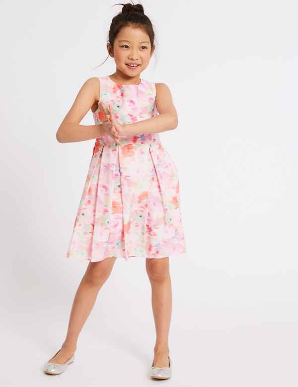 0a54b592a511e Pure Cotton Floral Print Prom Dress (3-16 Years)