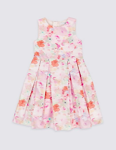 Pure Cotton Floral Print Dress (3-16 Years)