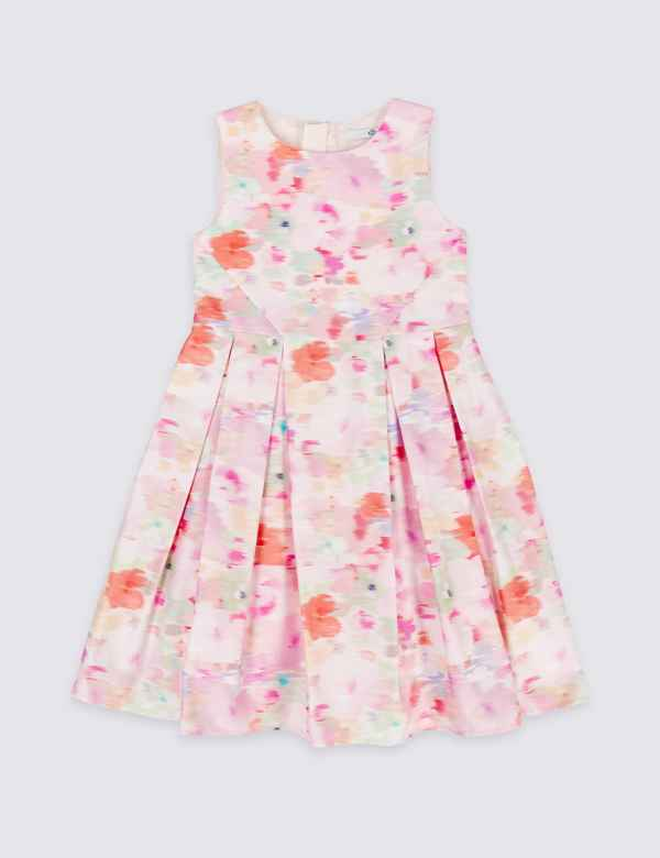 0906a0db2f4 Pure Cotton Floral Print Prom Dress (3-16 Years)